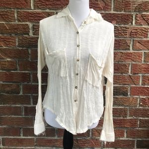 7859a696bd29 Free People Tops - Free People FP Beach button up shirt